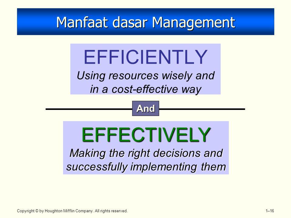 Manfaat dasar Management