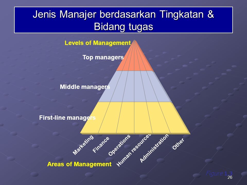 Jenis Manajer berdasarkan Tingkatan & Bidang tugas
