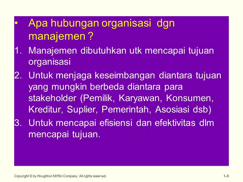 Apa hubungan organisasi dgn manajemen