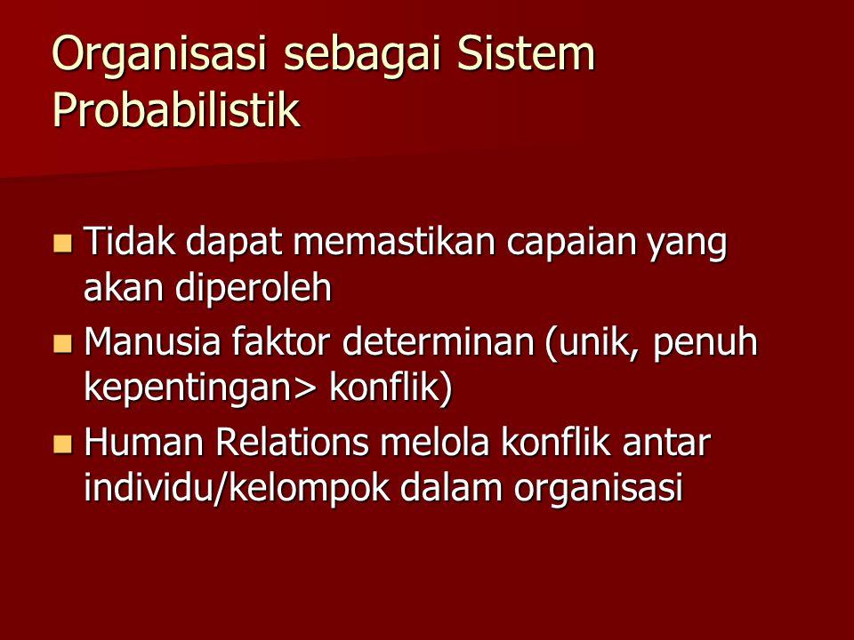 Organisasi sebagai Sistem Probabilistik