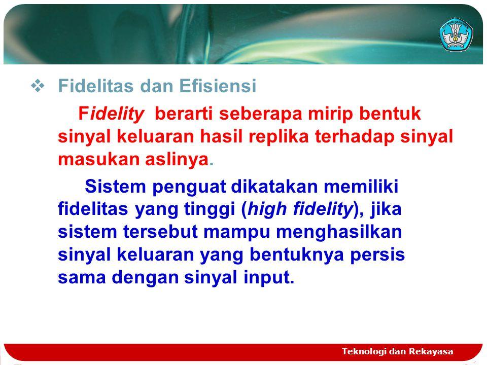 Fidelitas dan Efisiensi