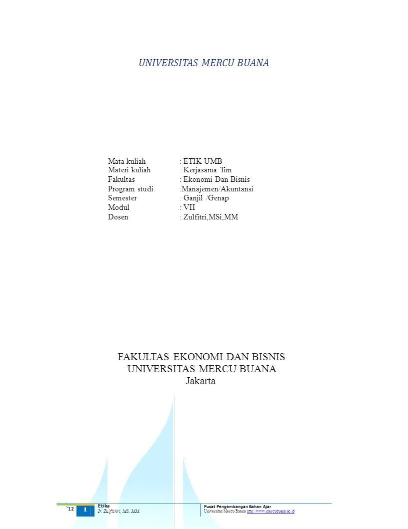 UNIVERSITAS MERCU BUANA