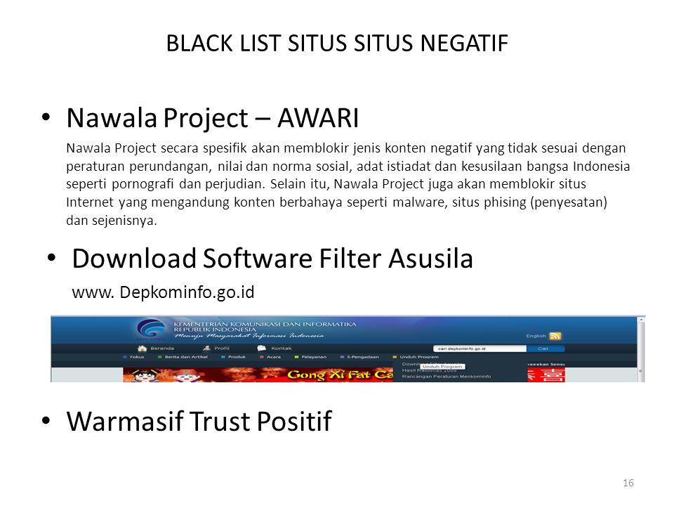BLACK LIST SITUS SITUS NEGATIF