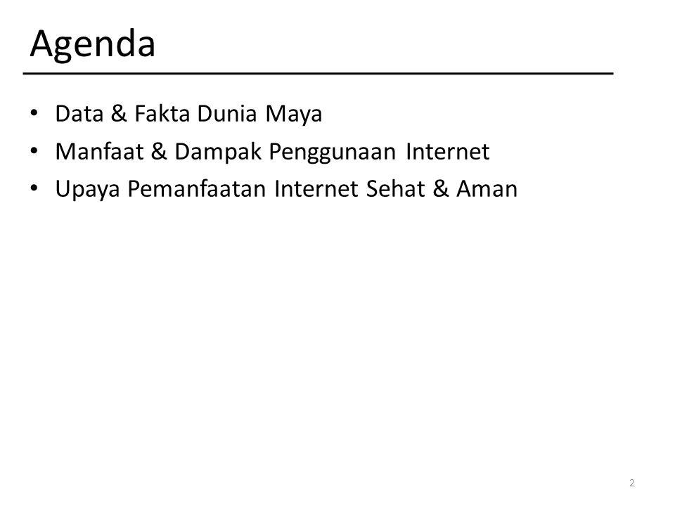 Agenda Data & Fakta Dunia Maya Manfaat & Dampak Penggunaan Internet