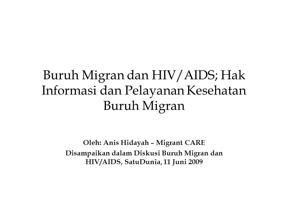 Oleh: Anis Hidayah – Migrant CARE