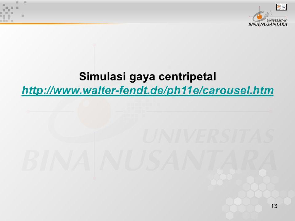 Simulasi gaya centripetal