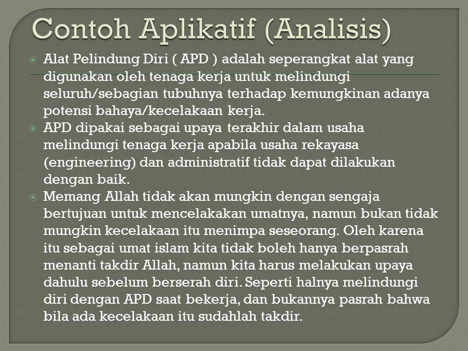 Contoh Aplikatif (Analisis)