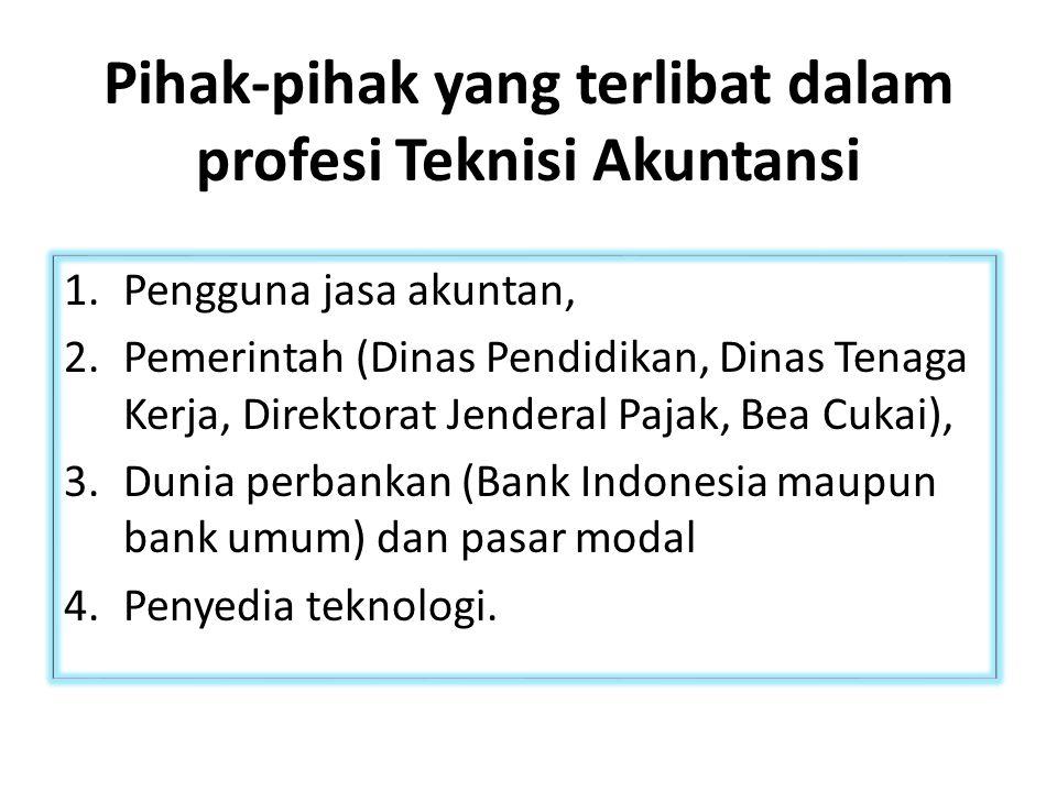 Pihak-pihak yang terlibat dalam profesi Teknisi Akuntansi