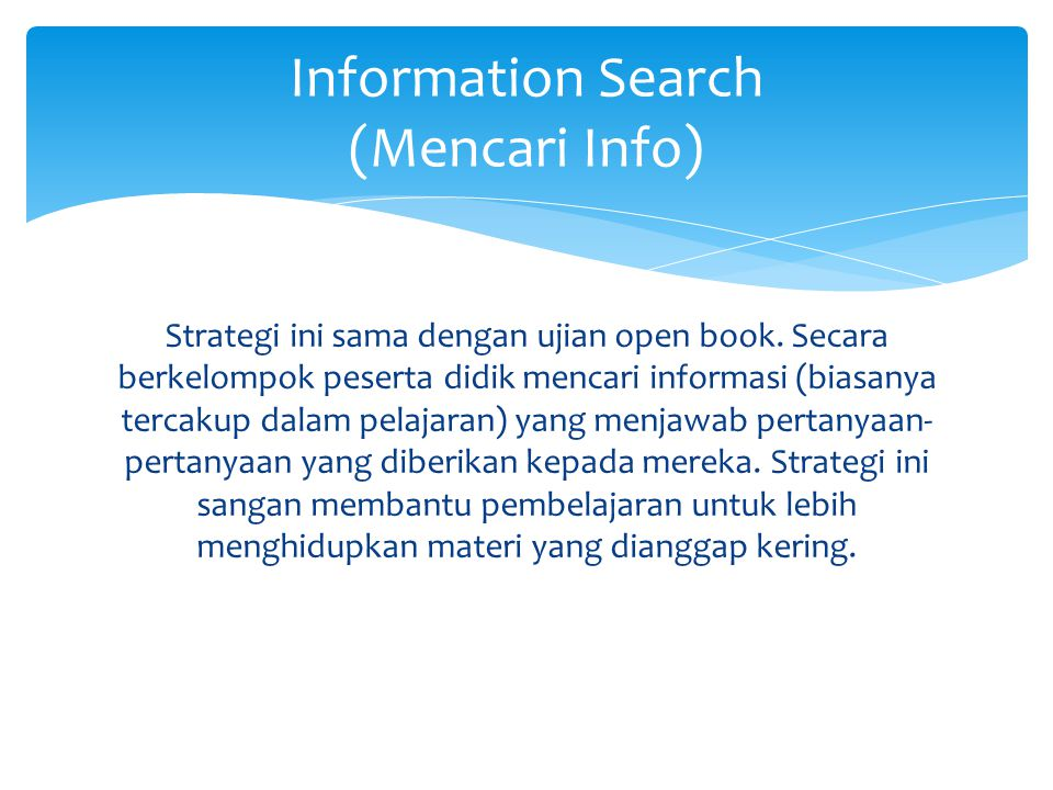 Information Search (Mencari Info)