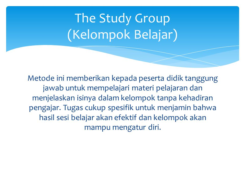 The Study Group (Kelompok Belajar)