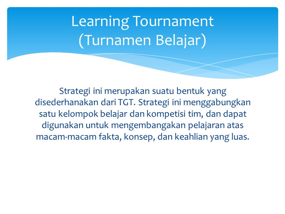 Learning Tournament (Turnamen Belajar)