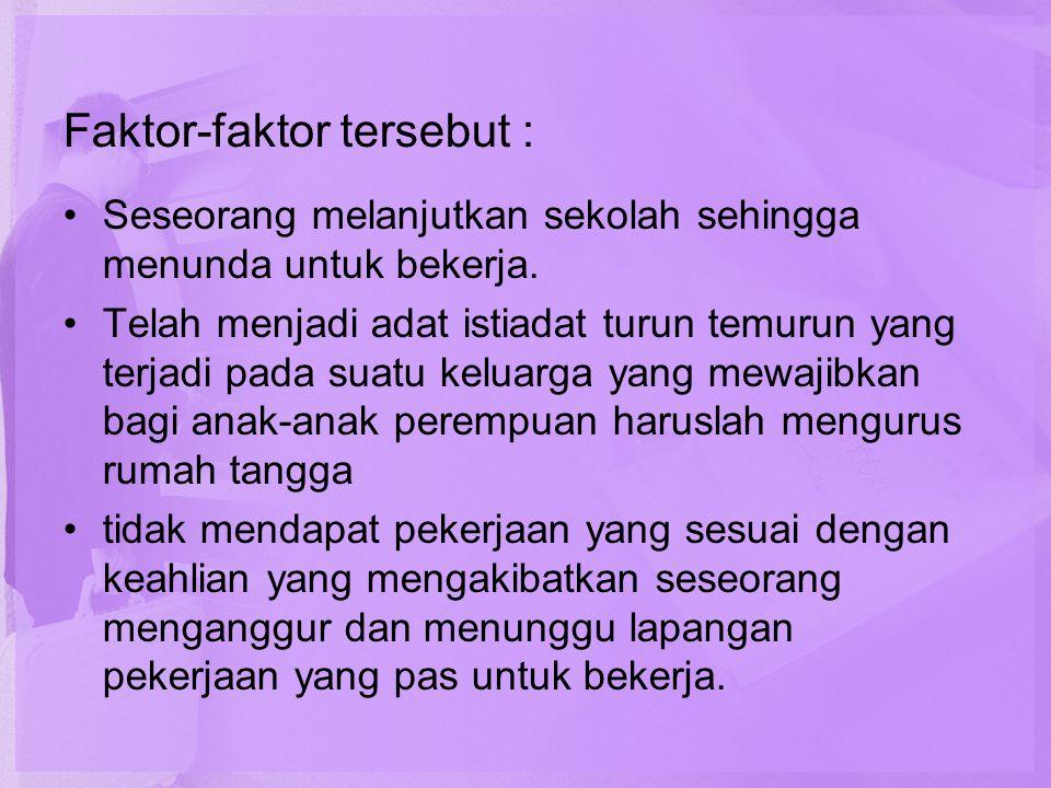 Faktor-faktor tersebut :