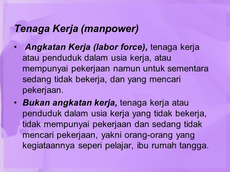 Tenaga Kerja (manpower)
