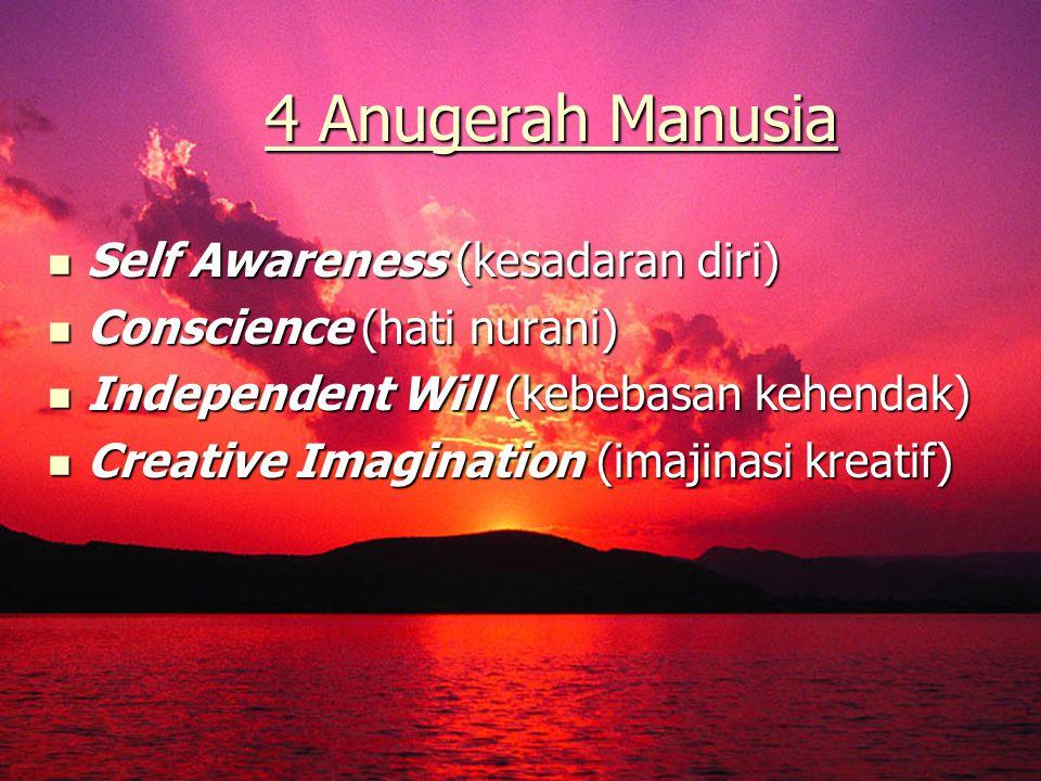 4 Anugerah Manusia Self Awareness (kesadaran diri)