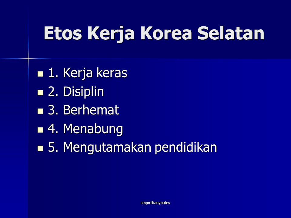 Etos Kerja Korea Selatan