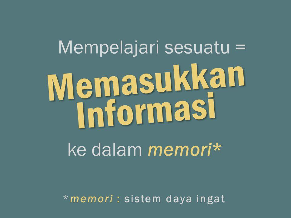 *memori : sistem daya ingat