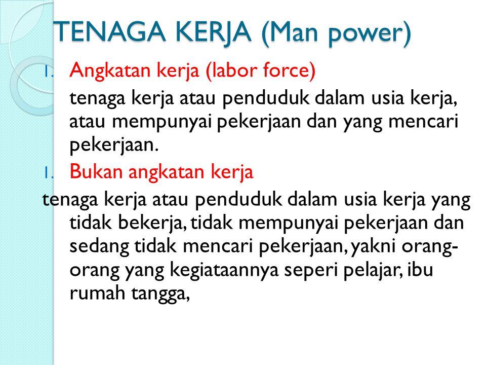 TENAGA KERJA (Man power)