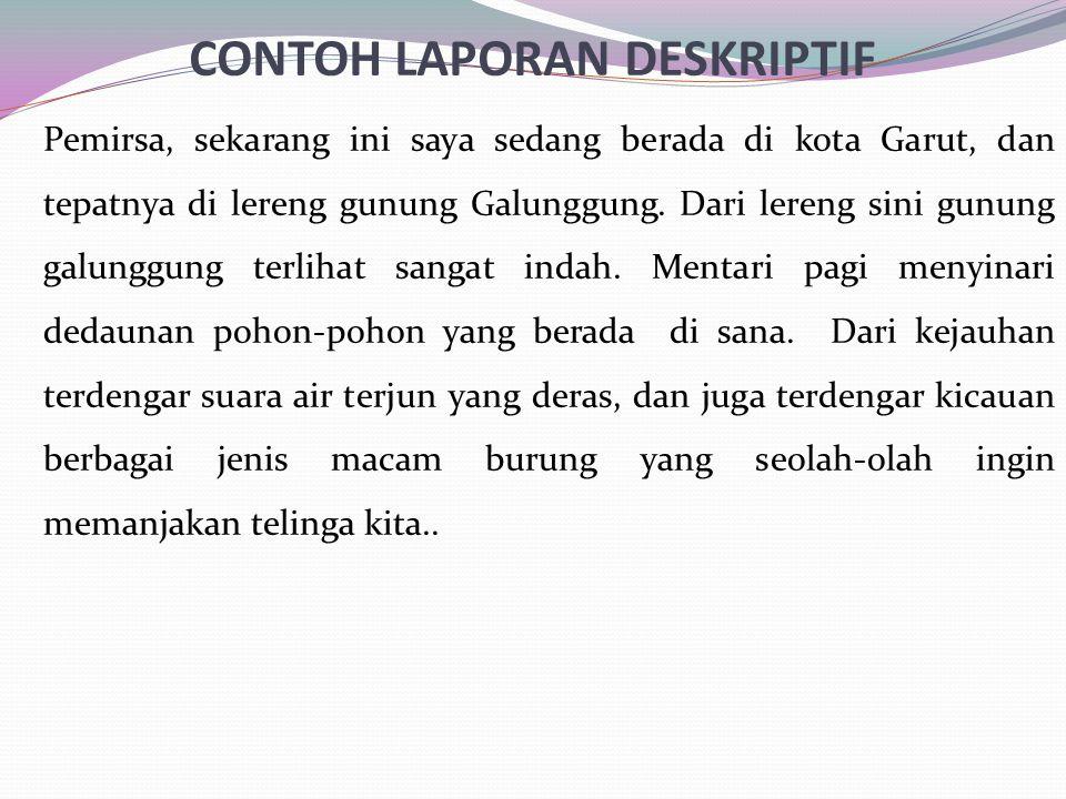 CONTOH LAPORAN DESKRIPTIF