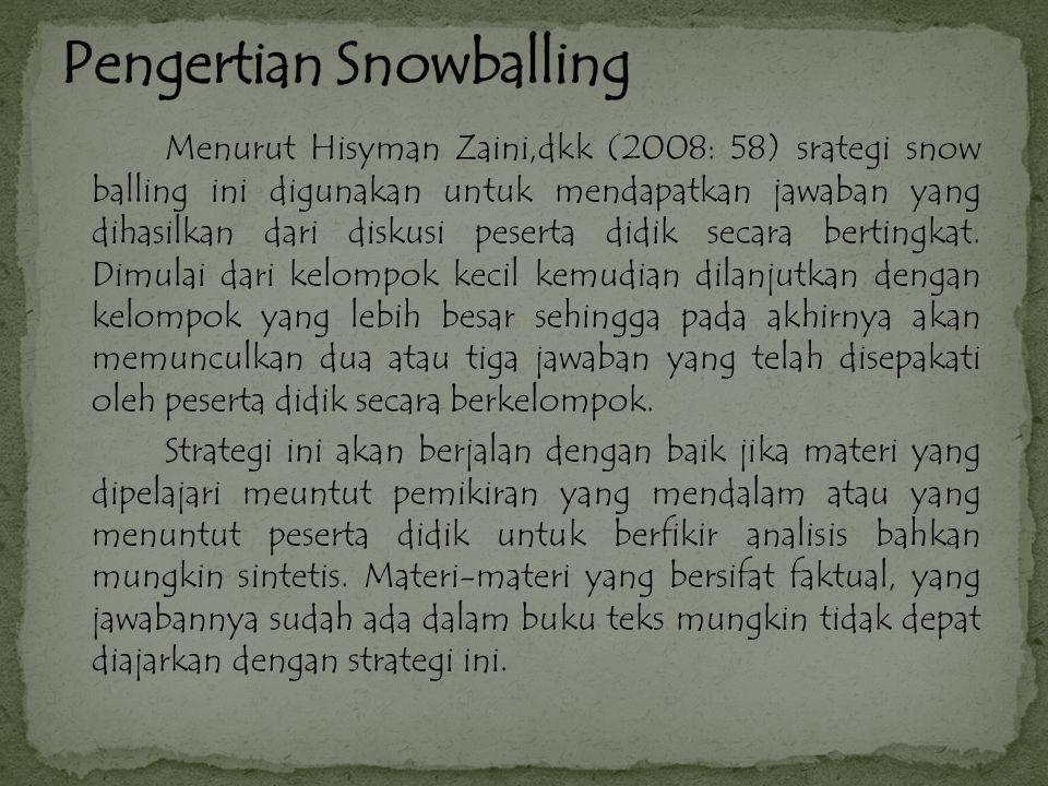 Pengertian Snowballing