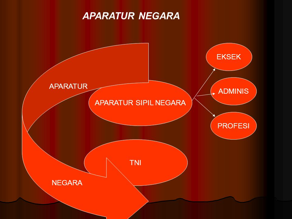 APARATUR NEGARA EKSEK APARATUR ADMINIS APARATUR SIPIL NEGARA PROFESI
