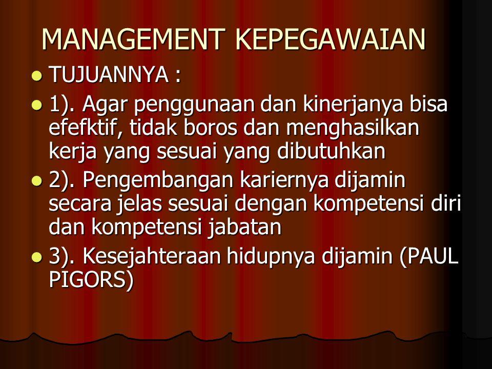 MANAGEMENT KEPEGAWAIAN