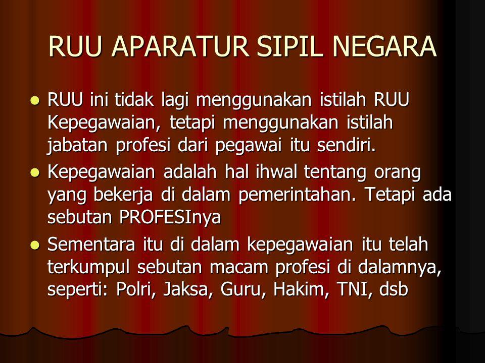 RUU APARATUR SIPIL NEGARA