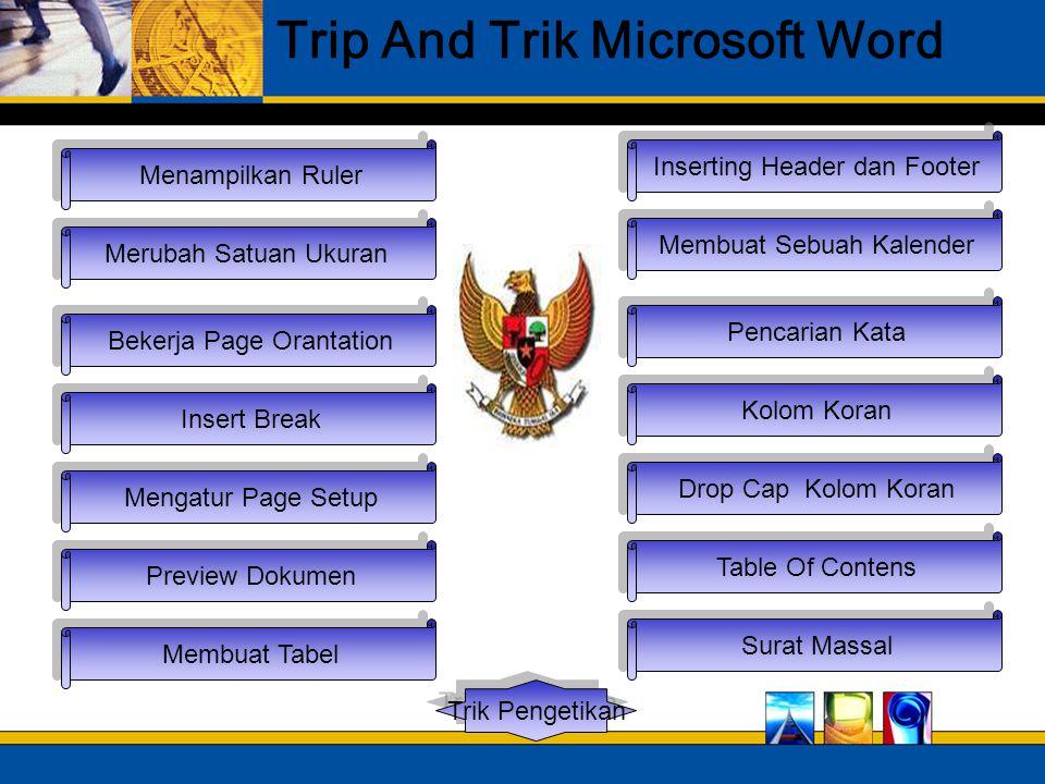 Trip And Trik Microsoft Word