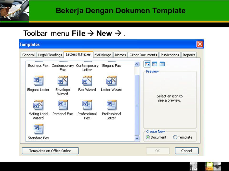 Bekerja Dengan Dokumen Template