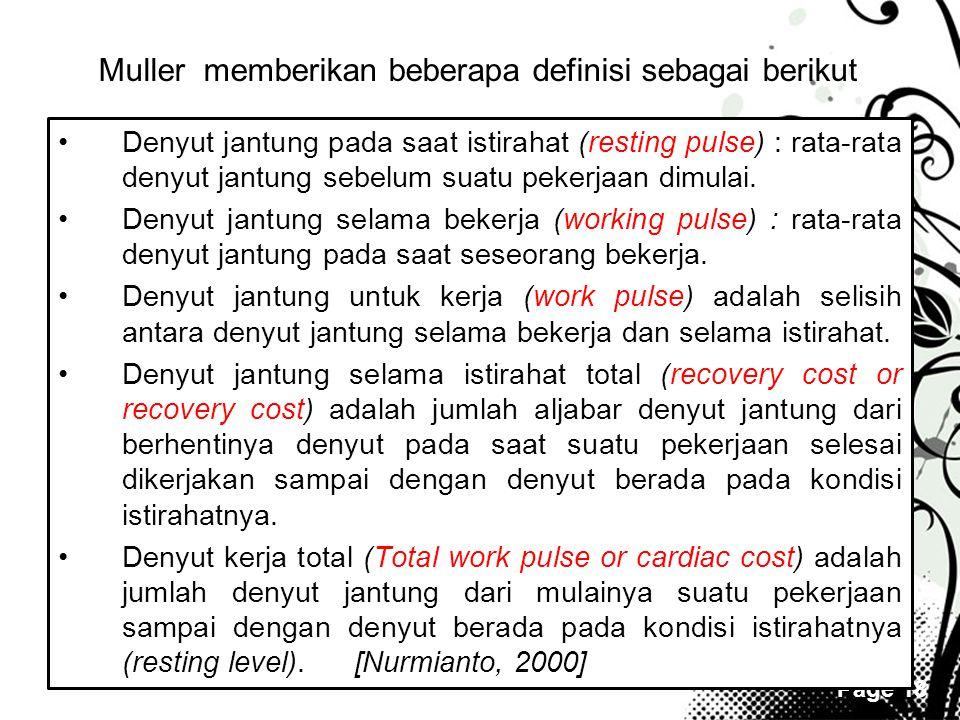 Muller memberikan beberapa definisi sebagai berikut