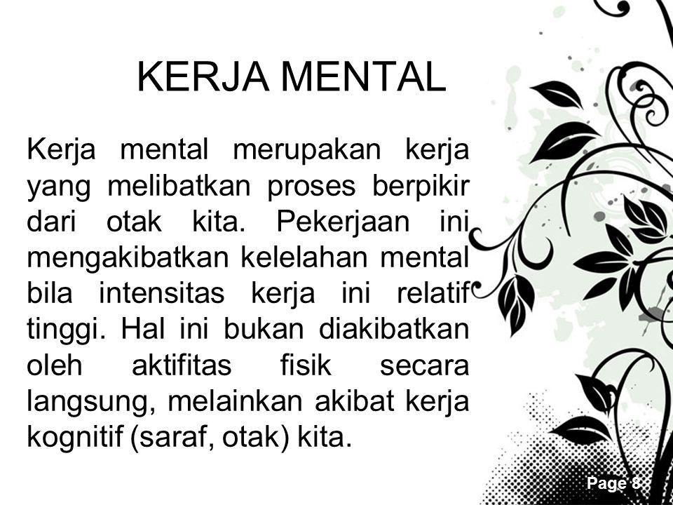 KERJA MENTAL