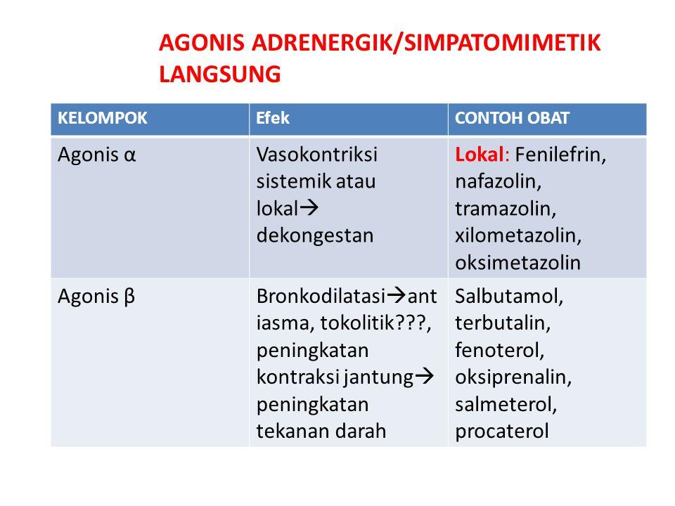 AGONIS ADRENERGIK/SIMPATOMIMETIK LANGSUNG