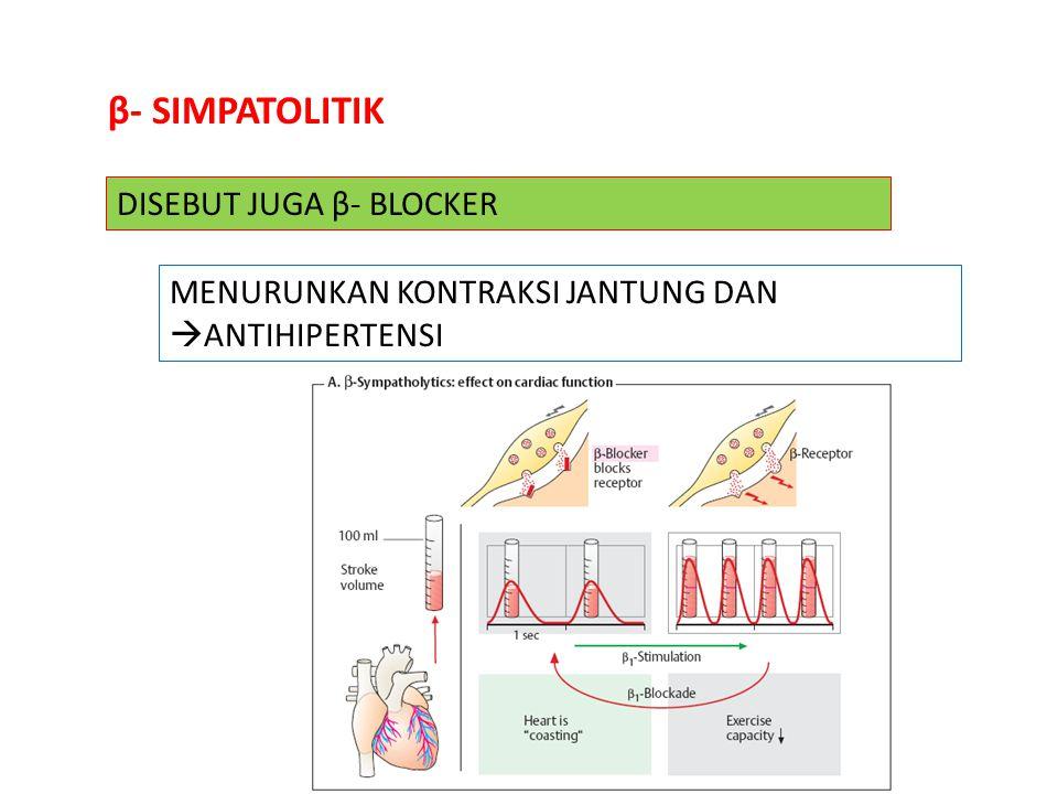 β- SIMPATOLITIK DISEBUT JUGA β- BLOCKER