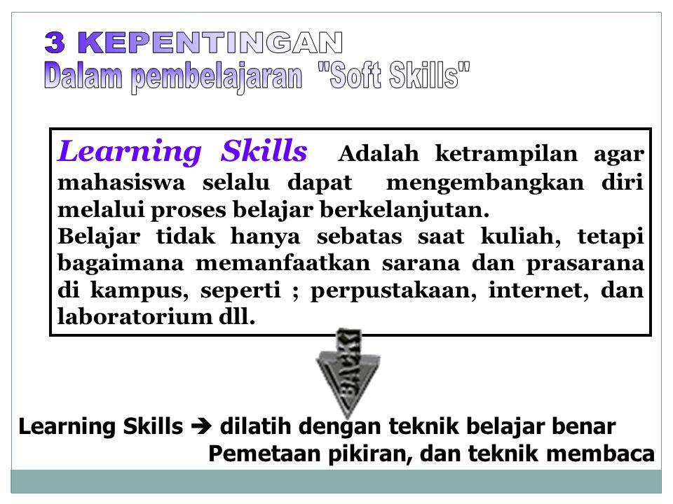 Dalam pembelajaran Soft Skills