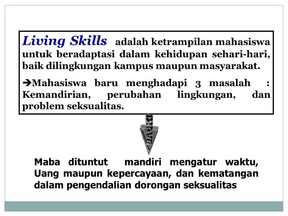 Living Skills adalah ketrampilan mahasiswa untuk beradaptasi dalam kehidupan sehari-hari, baik dilingkungan kampus maupun masyarakat.