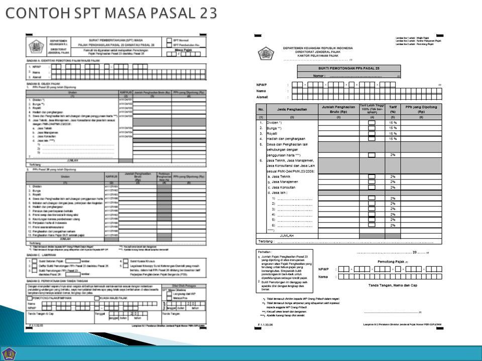 - CONTOH SPT MASA PASAL 23 22