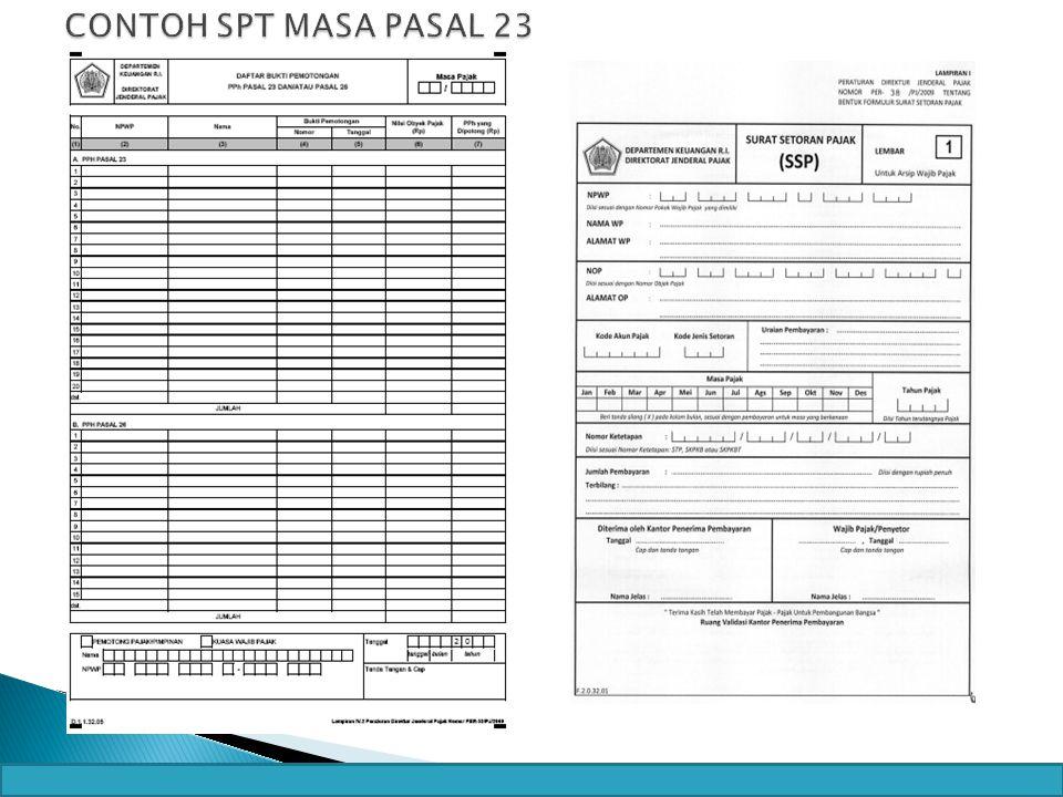 - CONTOH SPT MASA PASAL 23 23