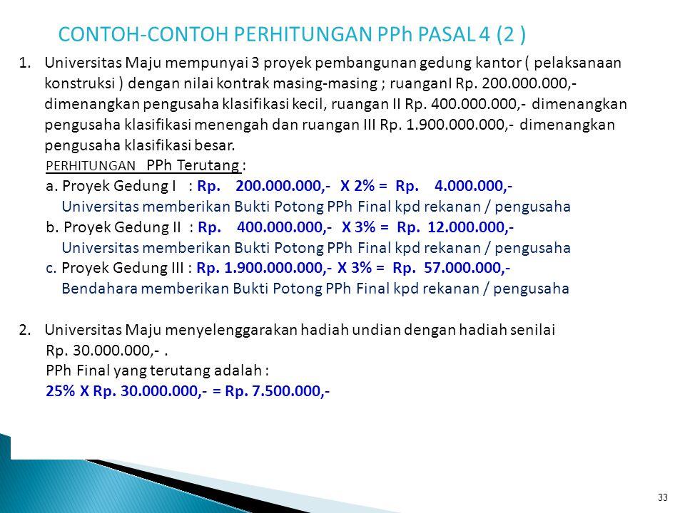 CONTOH-CONTOH PERHITUNGAN PPh PASAL 4 (2 )