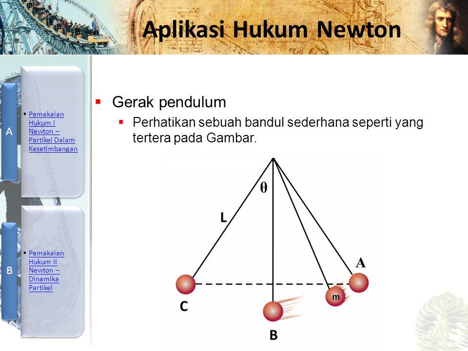 Gerak pendulum Perhatikan sebuah bandul sederhana seperti yang tertera pada Gambar.