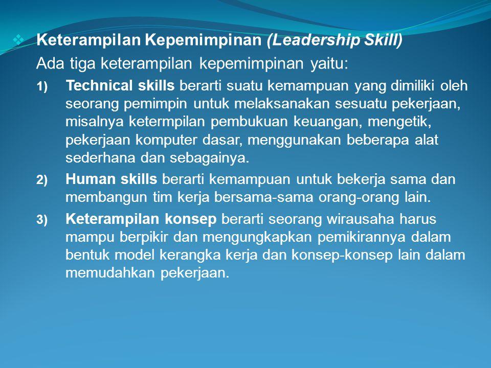 Keterampilan Kepemimpinan (Leadership Skill)