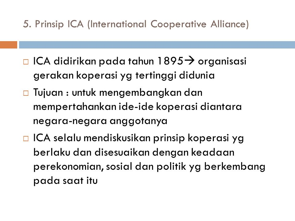 5. Prinsip ICA (International Cooperative Alliance)