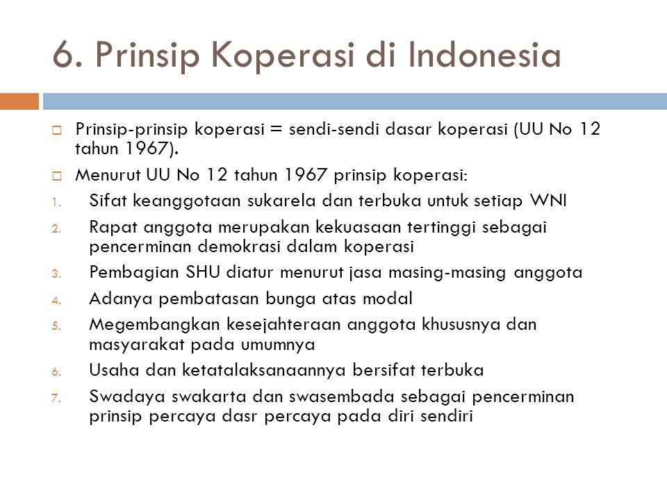 6. Prinsip Koperasi di Indonesia