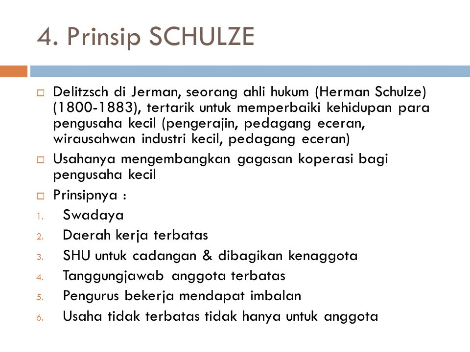 4. Prinsip SCHULZE
