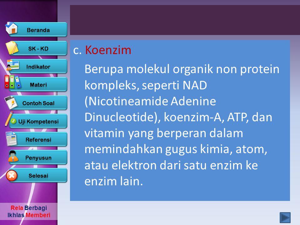 c. Koenzim