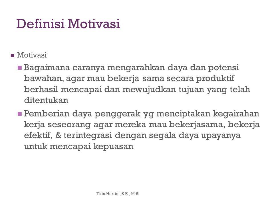 Definisi Motivasi Motivasi.