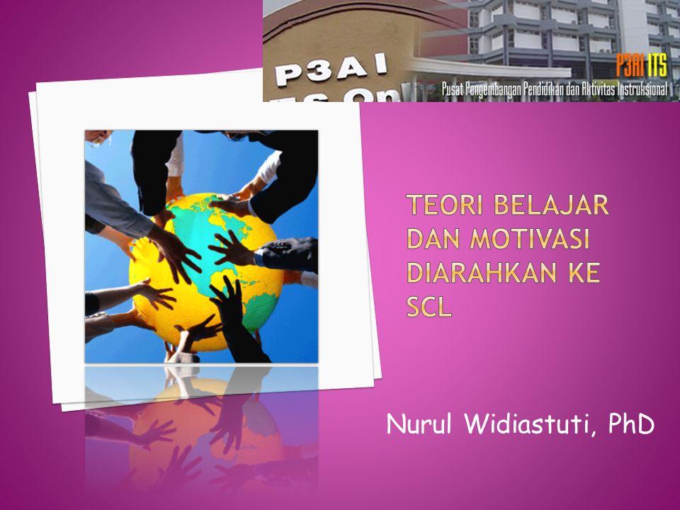 Teori belajar dan motivasi diarahkan ke SCL