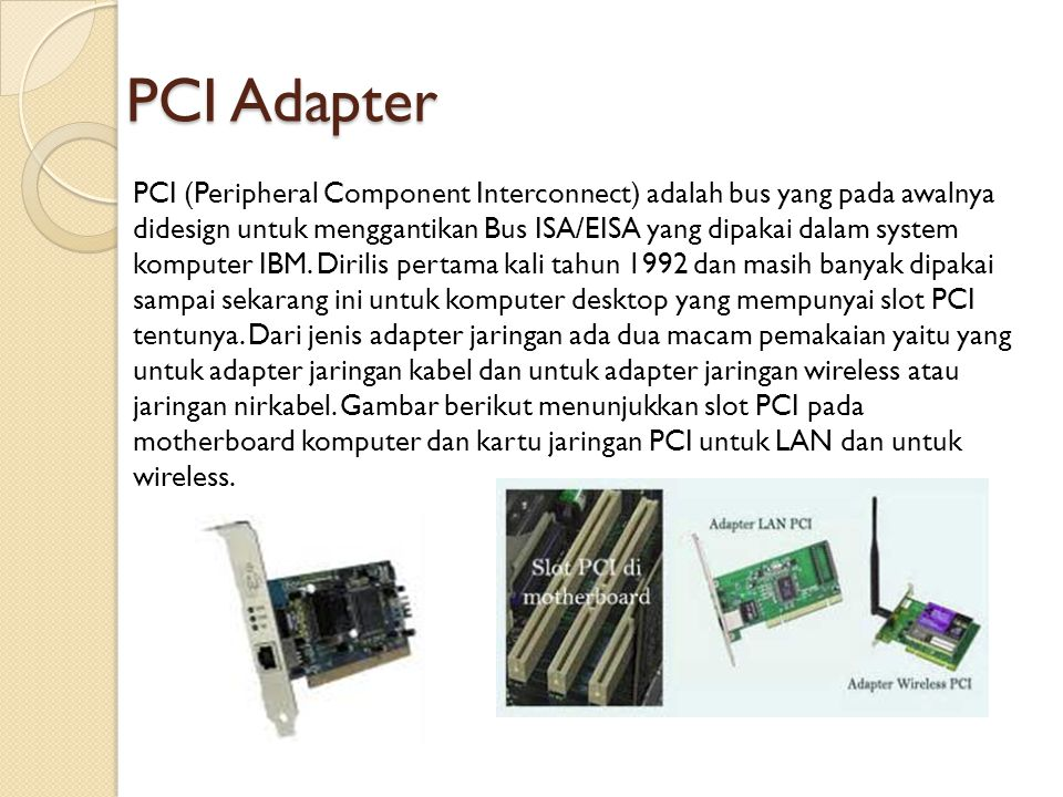 PCI Adapter