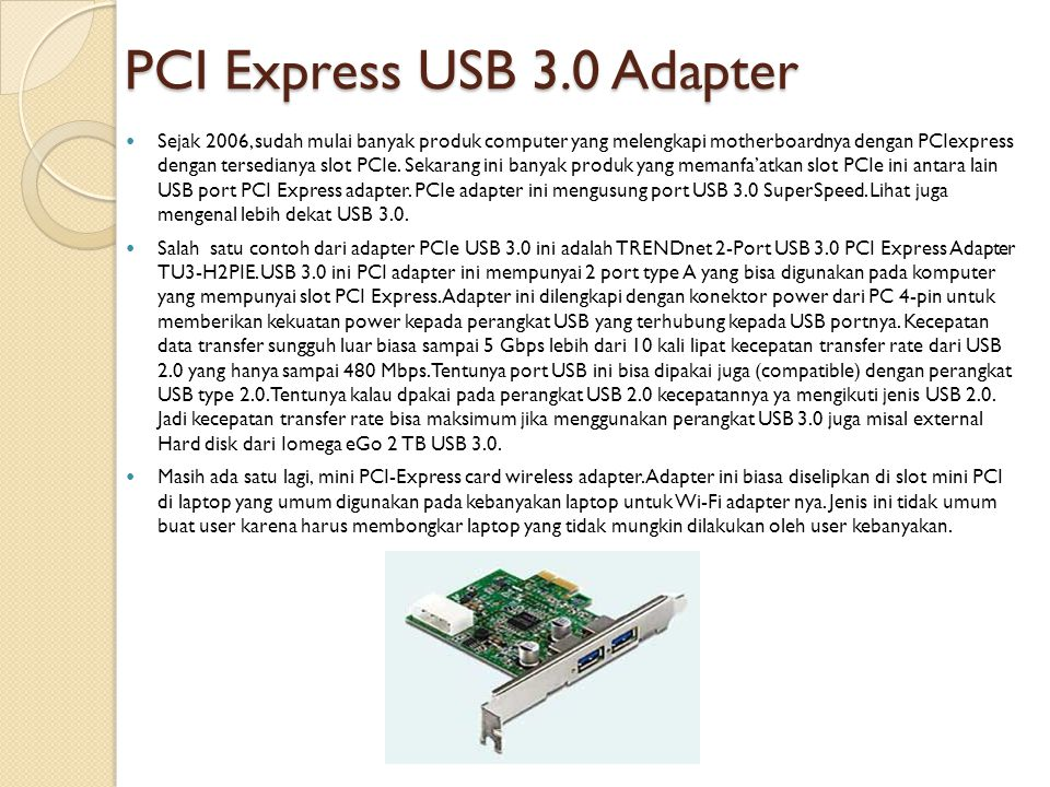 PCI Express USB 3.0 Adapter