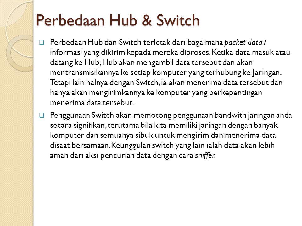Perbedaan Hub & Switch