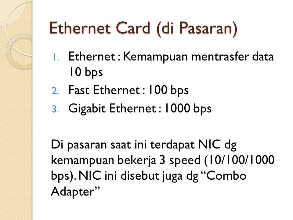Ethernet Card (di Pasaran)