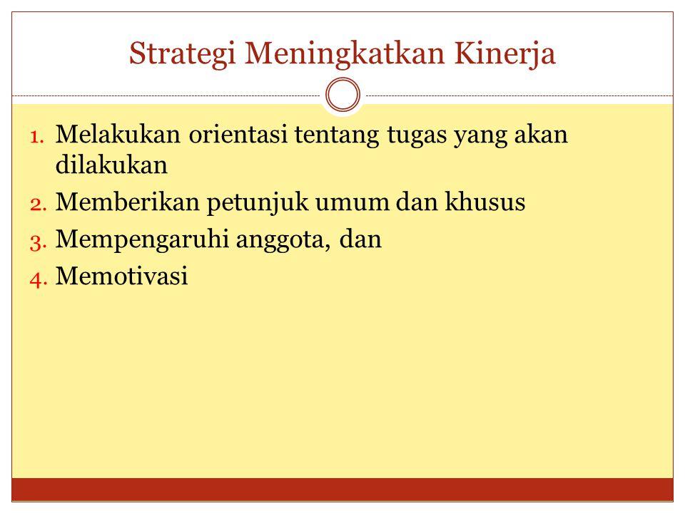 Strategi Meningkatkan Kinerja